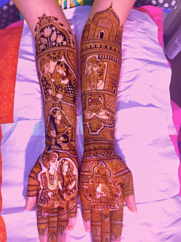 Famous Best Heavy Mehandi artist greater kailash